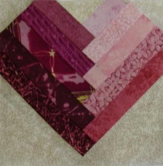 Log Cabin Heart Quilt Block Pattern : BHG 505 Quilt Blocks